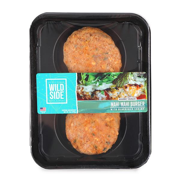 Frozen Wild Side Gourmet Burger Mahi Mahi With Blackened Shrimp 2 Burgers Per Tray 226g Hk South Stream Market