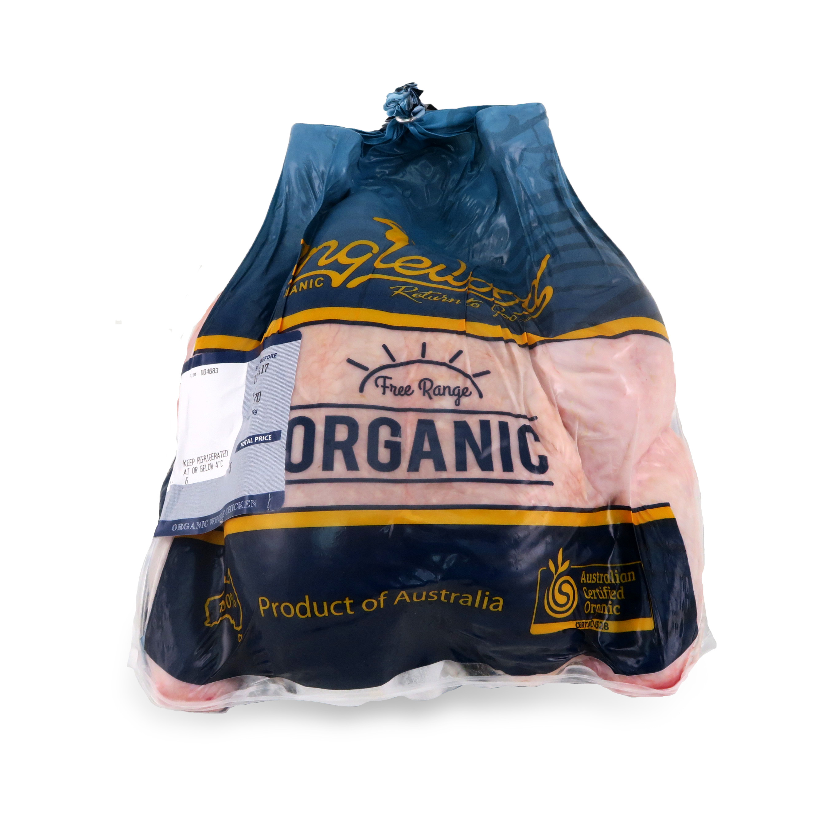 Frozen Inglewood Organic Whole Chicken - M (1.4-1.9kg)