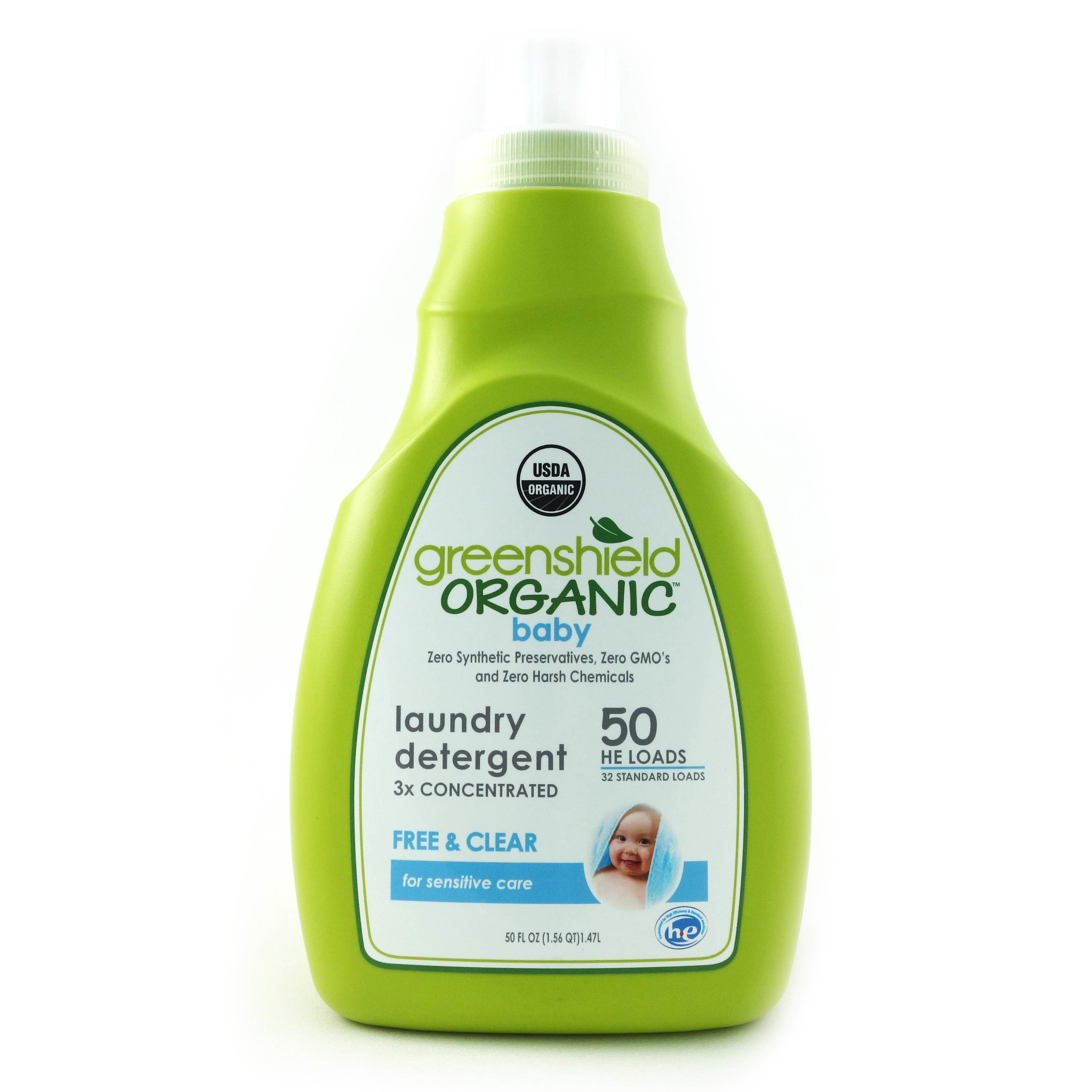 Greenshield Organic Laundry Detergent For Babies Free