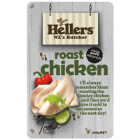 NZ Hellers Shaved Roast Chicken 200g*