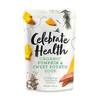 Celebrate Health Organic Pumpkin & Sweet Potato Soup 400g - Aus*