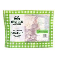 Frozen Bostock Brothers Organic Chicken Bonesless Skinless Thigh 330g - NZ*