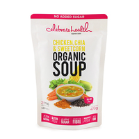 Celebrate Health Organic Chicken, Chia & Sweetcorn Soup 400g - Aus*