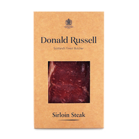 Frozen UK Donald Russell Dry Aged 28 Days Sirloin Steak 210g*
