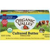 Organic Valley Lighthly Unsalted Butter 454g*