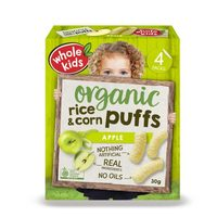 Whole Kids Organic Apple Brown Rice & Corn Puffs 12+Months 30g*