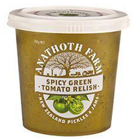 Anathoth Farm Spicy Green Tomato Relish 390g*