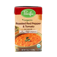 Pacific Organic Roasted Red Pepper & Tomato Bisque 500g*