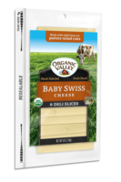 Organic Valley Baby Swiss Sliced Cheese 6oz*