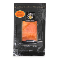 Frozen Victoria Island Smoked Pre-Silced Honey Whiskey Salmon 100g - Scotland*