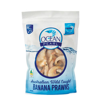 Frozen AUS Wild Catch King Banana Prawn 800g*