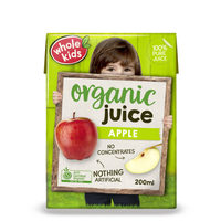 Whole Kids Organic Apple Juice 3+Years 200ml*