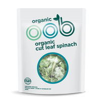 Frozen Omaha Organic Cut Leaf Spinach 400g - NZ*