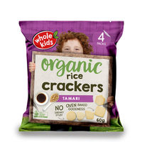 Whole Kids Organic Tamari Rice Crackers 12+Months 60g*