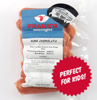Frozen Frank's Pork Chipolata 400g*