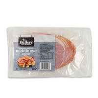 Frozen Hellers Middle Bacon Manuka Smoked 250g*