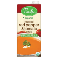 Pacific Organic Lite Sodium Roasted Red Pepper & Tomato Soup 946ml*