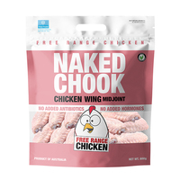 Frozen Naked Chook Mid Joint Chicken Wing 600g - AUS*