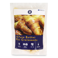 Frozen France Bon Chef Pure Butter Mini Croissants (10pcs) 250g*