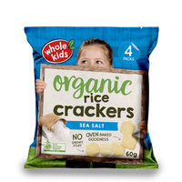 Whole Kids Organic Sea Salt Rice Crackers 12+Months 60g*