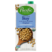 Pacific Organic Soy (Unsweetened) Beverage Original 946ml - US*