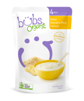 Bubs Organic Baby Banana Rice Cereal 4+Months 125g*