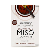 Clearspring Organic Japanese Brown Rice Miso Soup Paste Instant Soup 60g  - Japan*