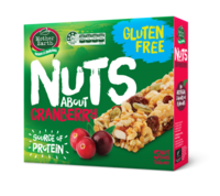 Mother Earth Nuts Bar Cranberry 160g*