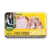 Frozen Aus MT Barker Chicken Skin-on Bone-in Thigh 400g*