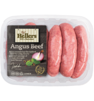 Frozen Hellers Angus Pure Sausage 480g*