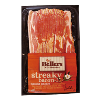 NZ Hellers Manuka Smoked Streaky Bacon 400g*