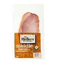 NZ Hellers Manuka Smoked Middle Bacon 300g*