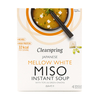 Clearspring Japanese Mellow White Miso Instant Soup 40g  - Japan*