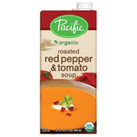 Pacific Organic Roasted Red Pepper & Tomato Soup 946ml*